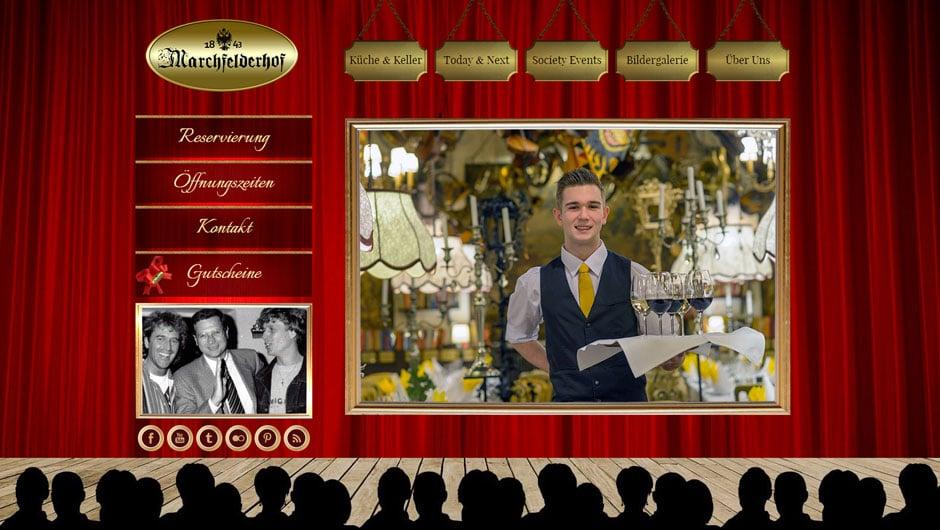 Webdesign für Marchfelderhof Deutsch-Wagram